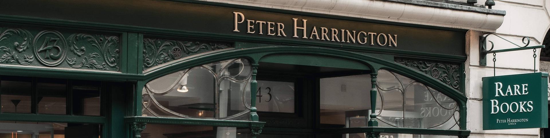 peter harrington shop banner
