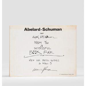 """Book Fair flyer: """"Abelard-Schuman and Ralph Steadman wish you a successful book fair."""""""