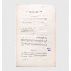 [Drop-head title:] Copy of all Correspondence between the Colonial Office and the Governor of Australia, touching the Free Pardon, and the Order for the Return of the Dorchester Labourers.