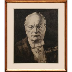 Bust portrait of Churchill in 1948.