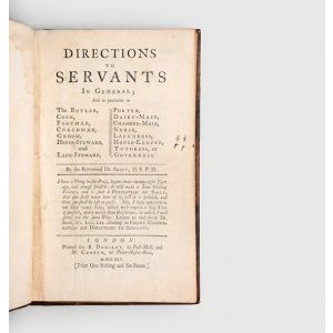 Directions to Servants In General;