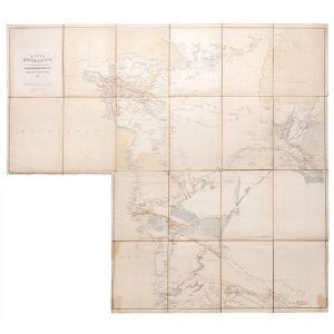 Karta Zakaspiyskogo Kraya. Sostavlena po Noveyshim Svedeniyam v Voyenno-Topograficheskom Otdele Kavkazskogo Voyennogo Okruga