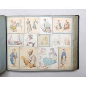 Two albums compiled from an artist's sketchbooks recording nearly 40 years of life in Algeria.
