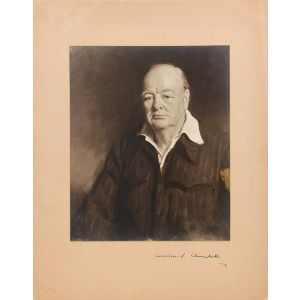 Portrait Photograph of Winston Churchill.
