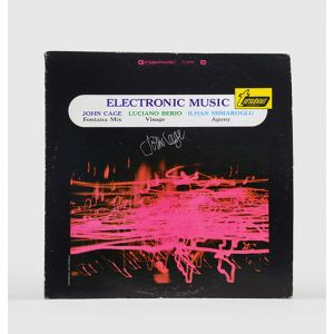 Electronic Music - featuring Cage's Fontana Mix - signed LP record.