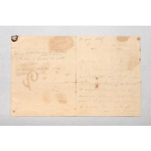 Autograph letter signed to John George Cochrane.