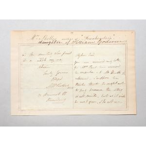 Autograph letter signed to Frederic Mansel Reynolds.