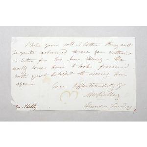 Autograph letter signed to Celia Gore.