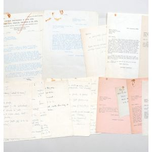 "Original autograph lecture notes for ""Culture and Democracy"", together with related correspondence between himself, the Fabian Society, and Routledge, the publishers."