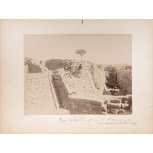 Five large original photographs of excavations at Troy (3), Mycenae (1) and Samothrace (1) - from the private collection of Heinrich Schliemann, with his holograph annotations.