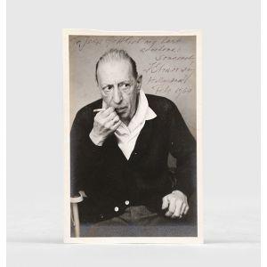 Inscribed original portrait photograph.