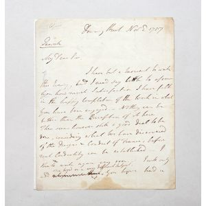 "Autograph letter signed (""W Pitt"") to William Eden, 1st Baron Auckland."