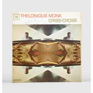 Inscribed album cover for Criss-Cross.