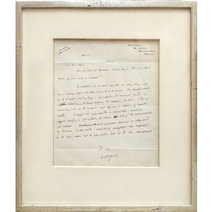 Autograph letter signed to William Force Stead.