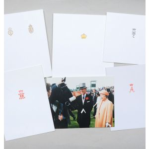 Christmas cards sent to Margaret Thatcher from the Royal Family, 1992.