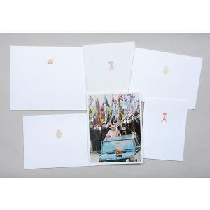Christmas cards sent to Margaret Thatcher from the Royal Family, 1994.