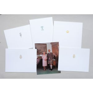 Christmas cards sent to Margaret Thatcher from the Royal Family, 1995.