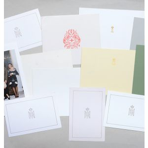 Christmas cards sent to Margaret Thatcher from foreign royal families.