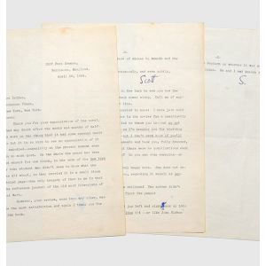 "Typed letter signed (""Scott"" in ink) to Gilbert Seldes."