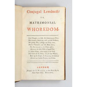 Conjugal Lewdness: or, Matrimonial Whoredom.