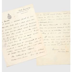 Autograph letter signed, to Hugh Frank Newall, on astrophotography.