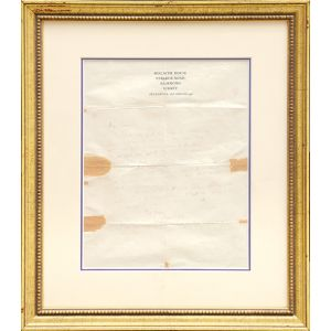 Autograph letter signed to T. S. Eliot.