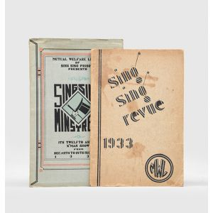"""Sing Sing Minstrels"" & ""Sing Sing Revue""; two original 1930s prison concert programmes."