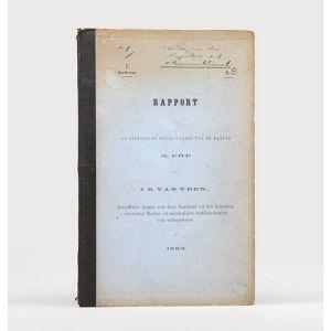 Rapport van de ingenieurs der 2de klasse van de marine H. Cop en J.S. van Veen, betreffende hunne reis door Engeland tot het bezoeken van eenige marine- en particuliere etablissementen van scheepsbouw in 1885.