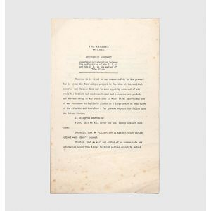 [Drop head title:] Articles of Agreement governing collaboration between the authorities of the U.S.A. and the U.K. in the matter of Tube Alloys, 1943.