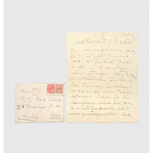 "Autograph letter signed (""Ludwig Wittgen."") to Moritz Schlick."