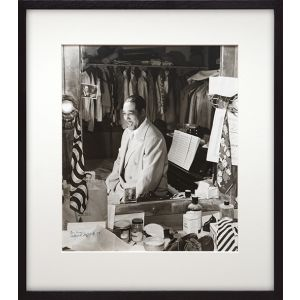 Ellington in his dressing room, Paramount Theater, c.September, 1946 - large vintage silver gelatin print, signed by the photographer.