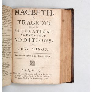 Macbeth, a tragedy: with all the alterations, amendments, additions, and new songs