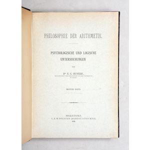 Philosophie der Arithmetik.