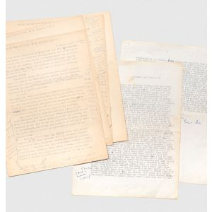 His manuscript corrections to the typescript of an unpublished biographical study