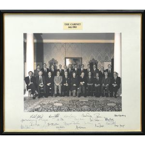 Official cabinet photograph, July 1983.