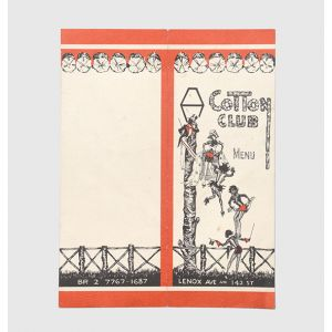 Cotton Club Menu - Lenox Ave and 142 St.