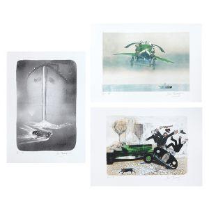 Three Chitty Chitty Bang Bang lithographs.