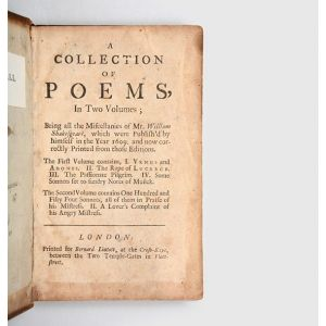 A Collection of Poems, in Two Volumes;