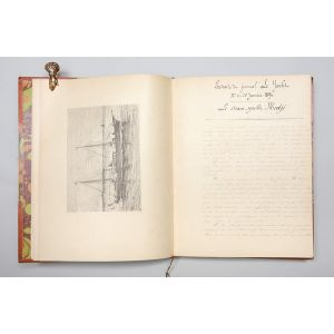 Croisière du Steam-Yacht Medjé en Angleterre, Ecosse et Irlande, Juillet-Août, 1892 - original manuscript account with finely engraved illustrations.