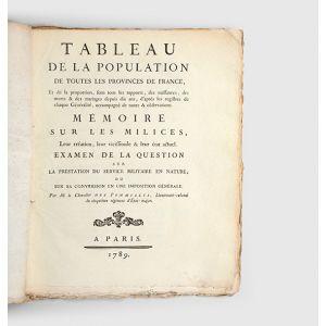 Tableau de la population de toutes les provinces de France,