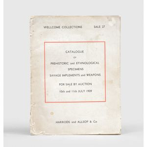 Catalogue of the Twenty-Seventh Auction Sale of the Series, comprising : Prehistoric and Ethnological Specimens