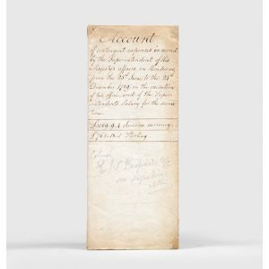 [Account sheet, with manuscript docket title:] Account of contingent expences incurred by the Superintendent of His Majesty's affairs in Honduras,