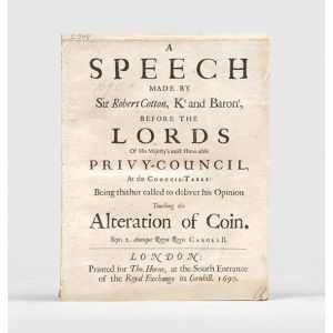 A Speech made by Sir Robert Cotton,