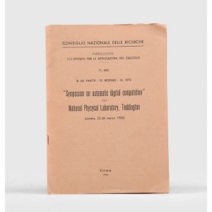 """Symposium on automatic digital computation"" del National Physycal Laboratory, Teddington. (Londra, 25-28 marzo 1953.)"