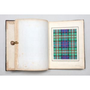 Clan Tartans [spine title] - Coats of Arms, Crests, Clan Tartans &c. Designed for Embroidery …