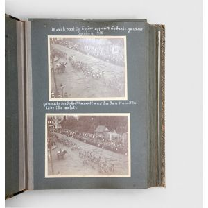 Photograph album of a British Military Officer in Egypt during the First World War and in Europe in the 1920's [sic].