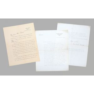 Two-page typed letter signed to the artist Walter Sickert.