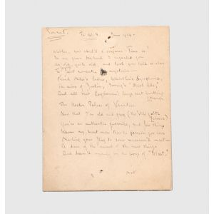 "Autograph manuscript draft poem, ""To W.S."""