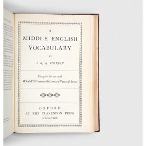 A Middle English Vocabulary [in] Fourteenth Century Verse & Prose.
