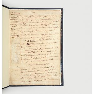 Autograph manuscript notes on Adam Smith's Wealth of Nations.